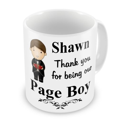 Personalised Wedding Page Boy Any Name Novelty Gift Mug